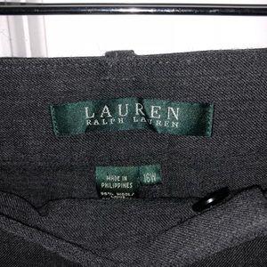 Ralph Lauren dress pants. NWOT. 16W. Dark grey.